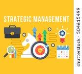 strategic management flat... | Shutterstock .eps vector #504615499
