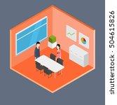 vector isometric office | Shutterstock .eps vector #504615826
