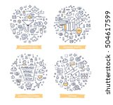 doodle vector illustrations of... | Shutterstock .eps vector #504617599