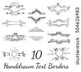 hand drawn text borders for... | Shutterstock . vector #504626983