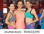 portrait of young sportive... | Shutterstock . vector #504632290