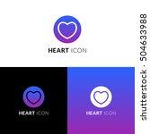 heart vector icon  logo.... | Shutterstock .eps vector #504633988