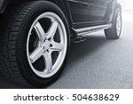 car wheels close up on a... | Shutterstock . vector #504638629
