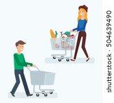 vector illustration of a man... | Shutterstock .eps vector #504639490