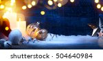 christmas eve background ... | Shutterstock . vector #504640984