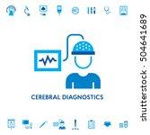 cerebral brain diagnostic... | Shutterstock .eps vector #504641689