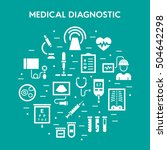 medical diagnostic vector icon... | Shutterstock .eps vector #504642298