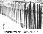 fence in the snow | Shutterstock . vector #504643714