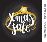 lettering  xmas sale  on a... | Shutterstock .eps vector #504656143
