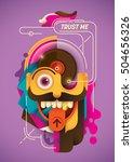 modern style illustration in... | Shutterstock .eps vector #504656326