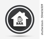 bar or pub sign icon. glass of... | Shutterstock .eps vector #504656509