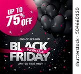 black friday sale banner.... | Shutterstock .eps vector #504660130