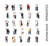 office culture team over white  | Shutterstock . vector #504662413