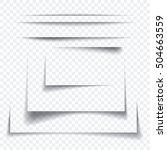 set of realistic paper sheet... | Shutterstock .eps vector #504663559