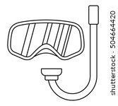 goggles and tube for diving... | Shutterstock .eps vector #504664420