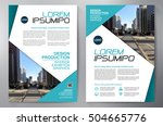 business brochure. flyer design.... | Shutterstock .eps vector #504665776