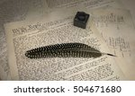U.s. Constitution And Feather...