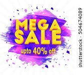 mega sale  creative flyer ...