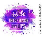end of season sale poster ... | Shutterstock .eps vector #504674158