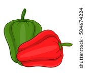 paprika icon. cartoon... | Shutterstock .eps vector #504674224