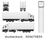 Vector Truck Trailer Template...