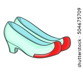 korean traditional shoes icon.... | Shutterstock .eps vector #504675709