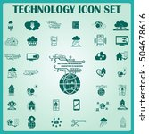 technology innovation icons set.... | Shutterstock .eps vector #504678616