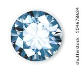 shiny bright vector diamond on... | Shutterstock .eps vector #504678634