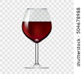transparent wineglass with red... | Shutterstock .eps vector #504678988