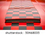 red and black checked pattern...