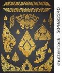 set of thai art element ... | Shutterstock .eps vector #504682240