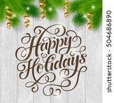 vector set of holidays... | Shutterstock .eps vector #504686890