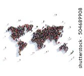 People Group Shape Map World