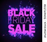 vector black friday sale... | Shutterstock .eps vector #504691558