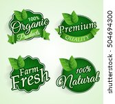 set of green stickers  tags or... | Shutterstock .eps vector #504694300
