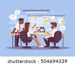 work schedule  working... | Shutterstock .eps vector #504694339