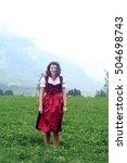 beautiful  young  bavarian...   Shutterstock . vector #504698743