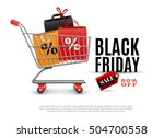 black friday sale poster with... | Shutterstock .eps vector #504700558