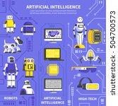 artificial intelligence... | Shutterstock .eps vector #504700573
