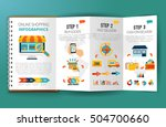 promotional leaflet advertising ... | Shutterstock .eps vector #504700660