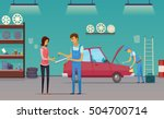 auto repair shop service... | Shutterstock .eps vector #504700714
