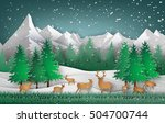 deer in the forest with... | Shutterstock .eps vector #504700744