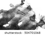 grunge ink stains on white paper   Shutterstock . vector #504701068