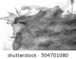 grunge ink stains on white paper | Shutterstock . vector #504701080