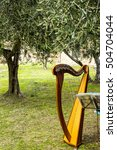 harp music under the olive tree ... | Shutterstock . vector #504704044