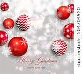 christmas invitation with...   Shutterstock .eps vector #504704920