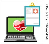 online health check medical... | Shutterstock .eps vector #504712930
