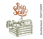 big sale of farm products and... | Shutterstock .eps vector #504715099