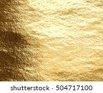 vector golden foil background... | Shutterstock .eps vector #504717100