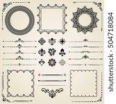 vintage set of elements.... | Shutterstock . vector #504718084
